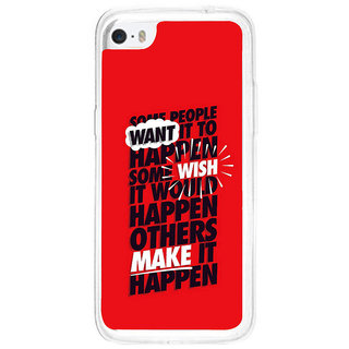 ifasho quote on inner Power Back Case Cover for Apple Iphone 5C
