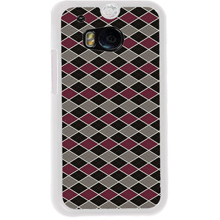 ifasho Animated Pattern of Chevron Arrows royal style Back Case Cover for HTC One M8