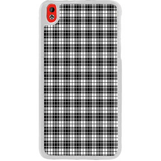 ifasho Modern Theme of black and white Squre lines Back Case Cover for HTC Desire 816