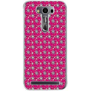 ifasho Pattern green white and red animated flower design Back Case Cover for Asus Zenfone Selfie