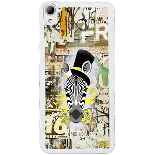 ifasho Animated Pattern of zebra Print Back Case Cover for HTC Desire 826