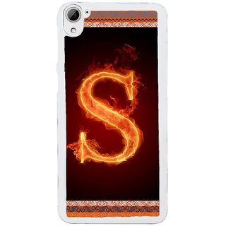 ifasho alphabet name series S Back Case Cover for HTC Desire 826