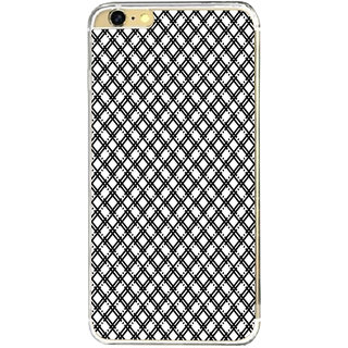 ifasho Modern Theme of black and white Squre lines Back Case Cover for Apple Iphone 6