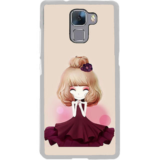 ifasho Girl  with Flower in Hair Back Case Cover for Honor 7
