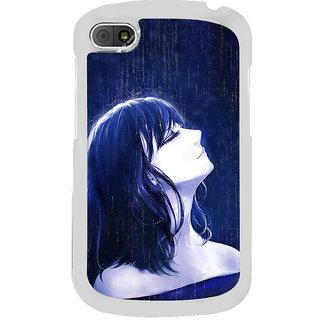 ifasho Girl in rain Back Case Cover for BLACKBERRY Q10
