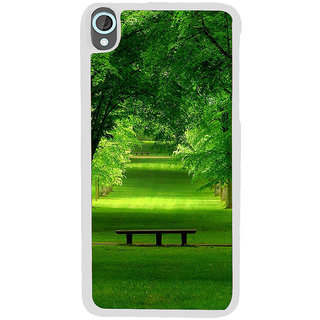 ifasho Green grass road with trees on the two side Back Case Cover for HTC Desire 820