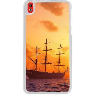 ifasho Ship in See at sunset Back Case Cover for HTC Desire 816