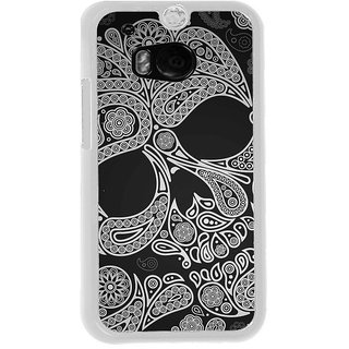 ifasho Modern  Design skeleton in royal Pattern Back Case Cover for HTC One M8