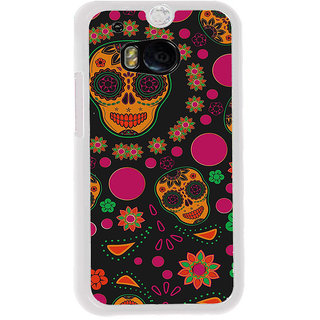 ifasho Animated Pattern Back Case Cover for HTC One M8
