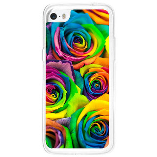 ifasho Animated Pattern colorful rose flower Back Case Cover for Apple Iphone 5C
