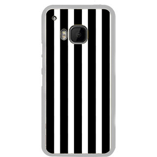 ifasho Modern Design of vertical Stripes black and white Back Case Cover for HTC One M9