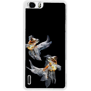 ifasho Fish in Blue See Back Case Cover for Huawei Honor 6