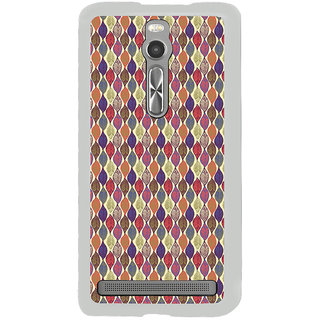 ifasho Animated Pattern colrful design leaves Back Case Cover for Asus Zenfone 2