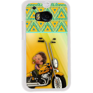 ifasho baby riding bike animated design Back Case Cover for HTC One M8