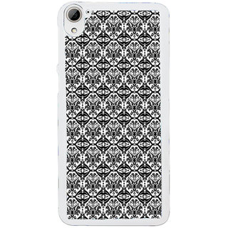 ifasho Animated Pattern design black and white flower in royal style Back Case Cover for HTC Desire 826