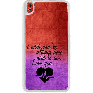 ifasho Love Quote Back Case Cover for HTC Desire 816