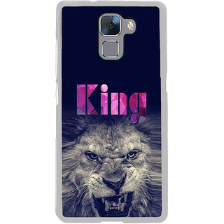 ifasho Angry Lion King Back Case Cover for Honor 7