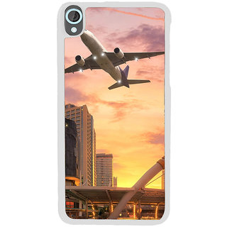 ifasho aeroPlane flying in city Back Case Cover for HTC Desire 820