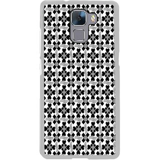 ifasho Animated Pattern design black and white flower in royal style Back Case Cover for Honor 7