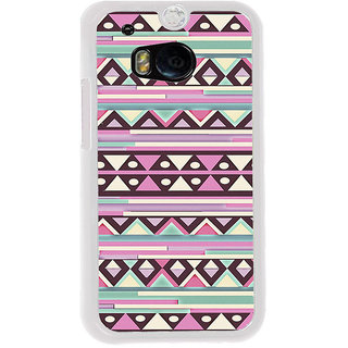 ifasho Animated Pattern colrful tribal design Back Case Cover for HTC One M8