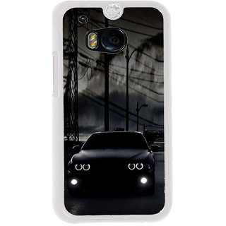 ifasho Black Car Back Case Cover for HTC One M8