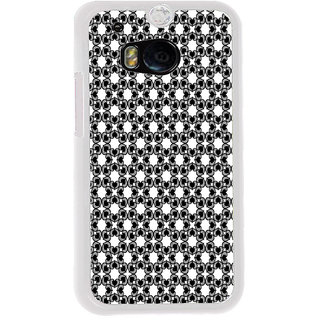 ifasho Modern Art Design Pattern with Lot Of small heart Back Case Cover for HTC One M8