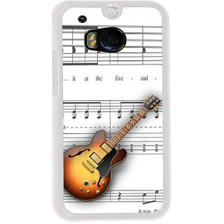 ifasho Modern Art Design Pattern Music Instrument Guitar Back Case Cover for HTC One M8