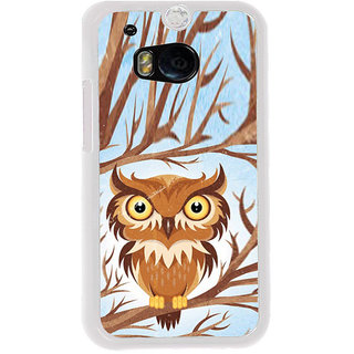 ifasho Animated Owl Pattern Back Case Cover for HTC One M8