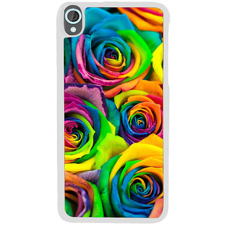 ifasho Animated Pattern colorful rose flower Back Case Cover for HTC Desire 820