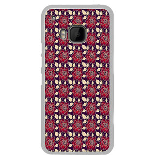 ifasho Animated Pattern black and white many lotus flower Back Case Cover for HTC One M9