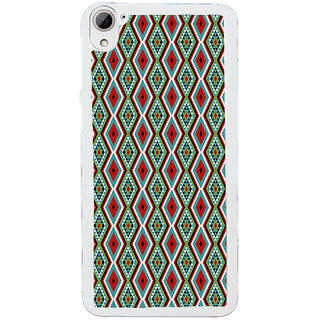 ifasho Animated Pattern colrful traditional design Back Case Cover for HTC Desire 826