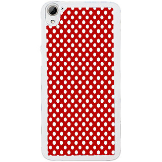 ifasho Animation Clourful white Circle on red background Pattern Back Case Cover for HTC Desire 826