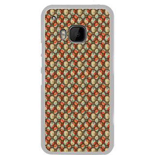 ifasho Animated Pattern With flower inside Circle  Back Case Cover for HTC One M9