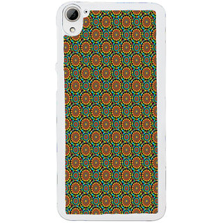ifasho Animated Pattern design colorful flower in white background Back Case Cover for HTC Desire 826