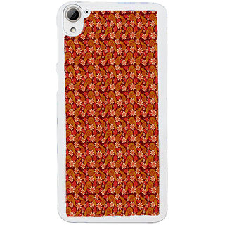 ifasho Animated Pattern colrful design flower with leaves Back Case Cover for HTC Desire 826