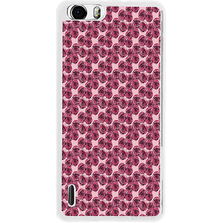 ifasho Animated Pattern small purple rose flower Back Case Cover for Huawei Honor 6