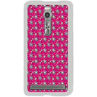 ifasho Pattern green white and red animated flower design Back Case Cover for Asus Zenfone 2