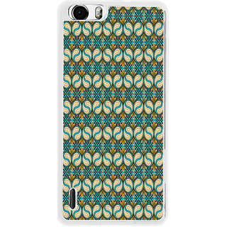ifasho Animated Pattern design colorful flower in royal style with lines Back Case Cover for Huawei Honor 6
