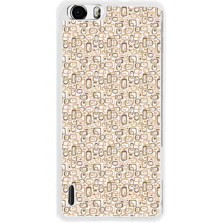ifasho single color rectangle and circle and dots Pattern Back Case Cover for Huawei Honor 6