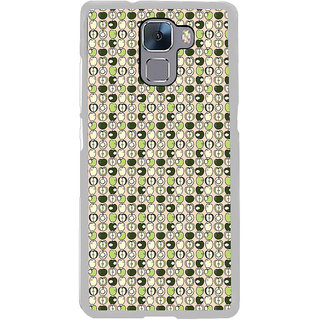 ifasho Animated Pattern design many small apple full and half Back Case Cover for Honor 7