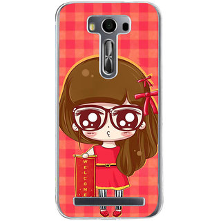 ifasho Crazy Girl Back Case Cover for Asus Zenfone Selfie