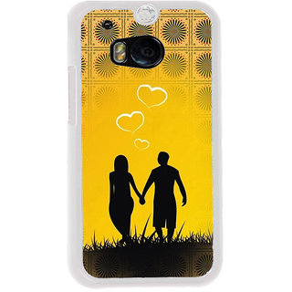 ifasho Boy Holding girls Hand Back Case Cover for HTC One M8