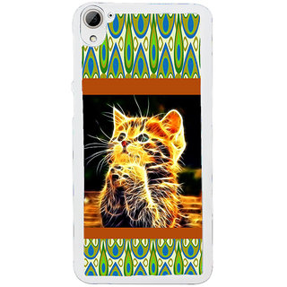 ifasho Cat with big eyes animated designed Back Case Cover for HTC Desire 826