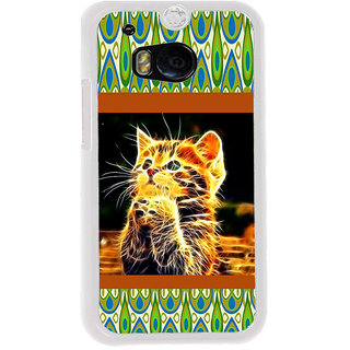 ifasho Cat with big eyes animated designed Back Case Cover for HTC One M8