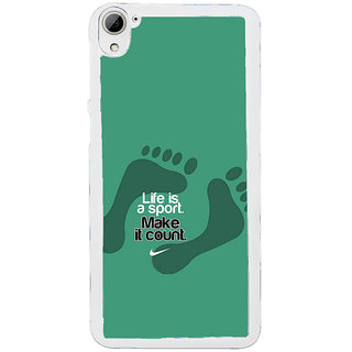 ifasho life Quotes sports quotes Back Case Cover for HTC Desire 826