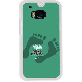 ifasho life Quotes sports quotes Back Case Cover for HTC One M8