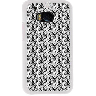 ifasho Animated Pattern black and white jasmin flower Back Case Cover for HTC One M8