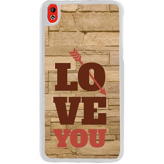 ifasho Quote On Love you and me Back Case Cover for HTC Desire 816
