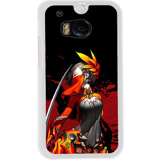 ifasho Colorful Girl animated Back Case Cover for HTC One M8