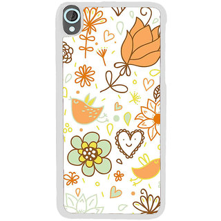 ifasho Animated Pattern colrful design cartoon flower with leaves Back Case Cover for HTC Desire 820